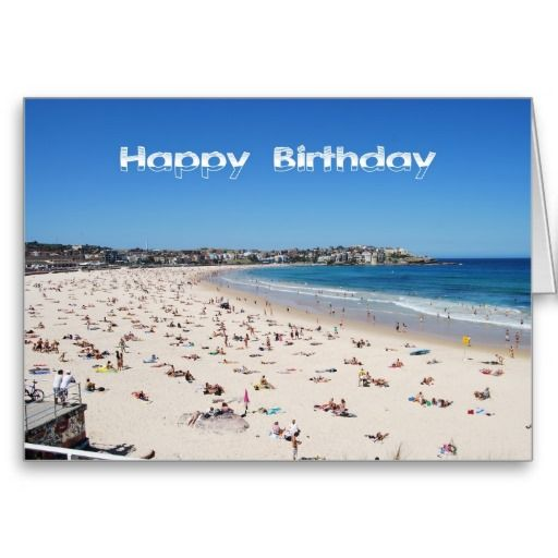 Happy Birthday Bondi Beach Sydney Australia Card Zazzle Com