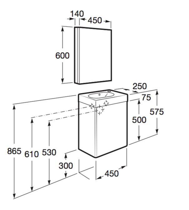 Dimensiones mueble de ba o peque os espacios - Mueble para ropa ...
