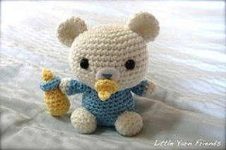 Ravelry: Lil' Baby Bear pattern by Rachel Hoe. Free Pattern. Look at those adorable eyes staring at you. Don't you want to make this baby bear for yourself too? The size of Lil' Baby Bear is approximately 4 x 4.5 inches. This cute little crocheted plushy makes a good gift for all mothers, mothers to be, baby shower gift, etc.