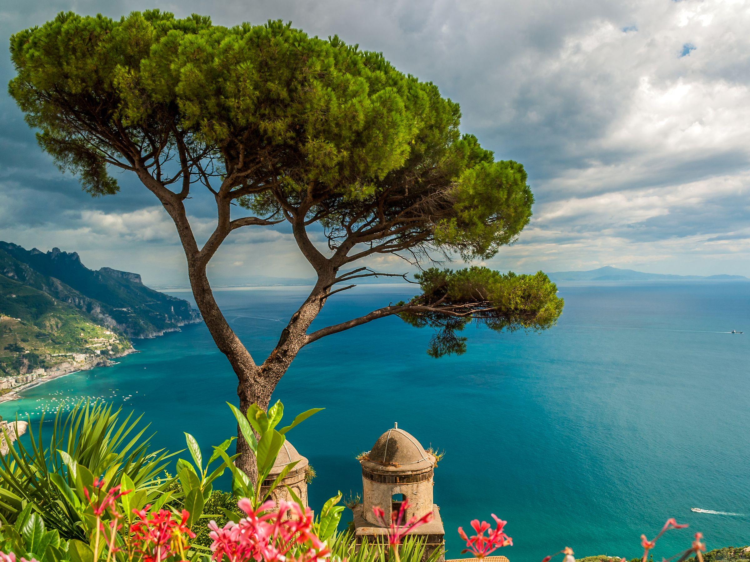 Fonds D Ecran Italie Mer Cote Ravello Arbres Nature Image 491013 Telecharger Italie Paysage Cote Amalfitaine Voyage Italie