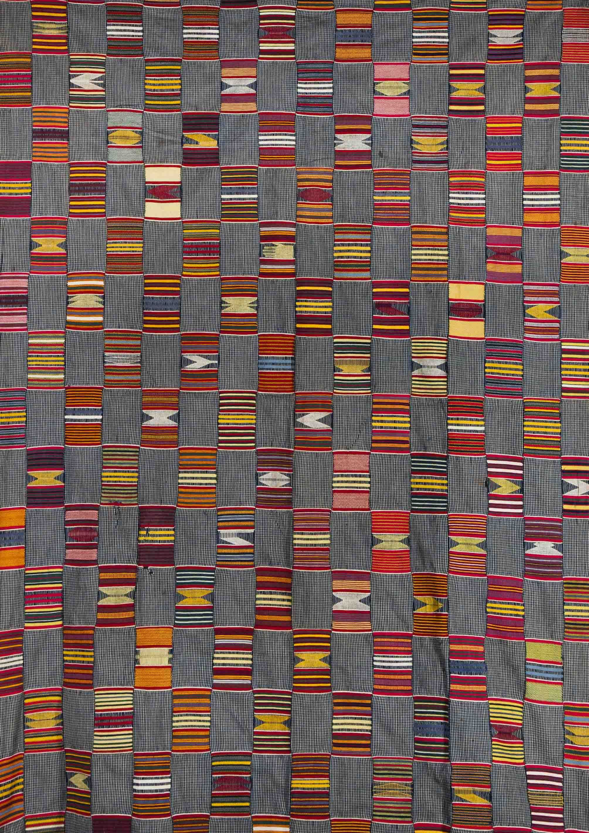 Africa | Strip woven cloth from the Ewe people of Togo | Cotton ...