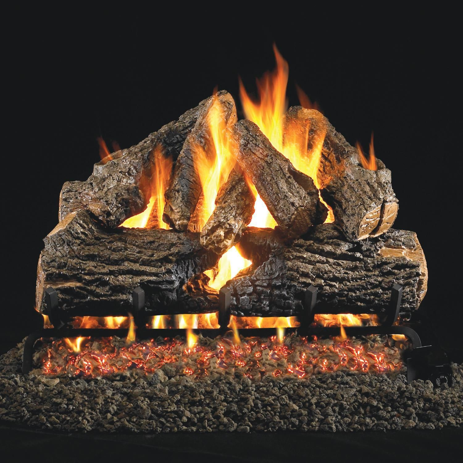Peterson Real Fyre 24Inch Charred Oak Gas Log Set With