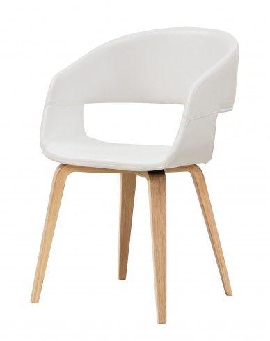 NOVA Esszimmerstuhl mit Schalensitz in weiß - küchenstuhl weiß holz