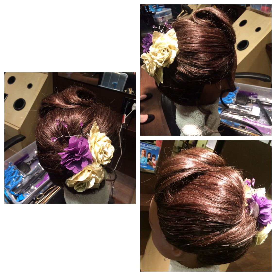 Quick floral pinup quick updo pinterest quick updo and updo