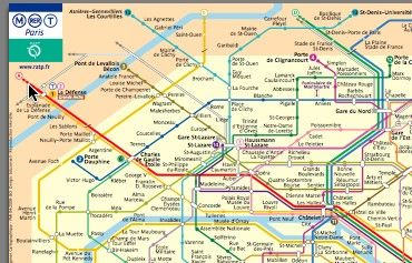 mini paris metro map
