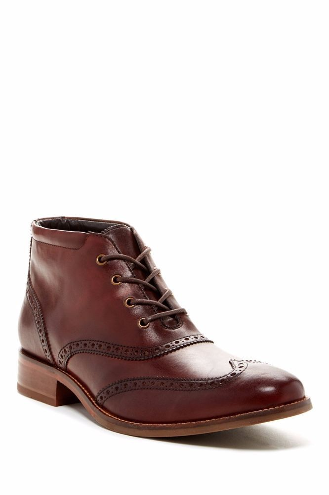 21f1dba325d New Cole Haan Mens C11053 Brown Liam Brogue Wingtip Chukka II Boots ...