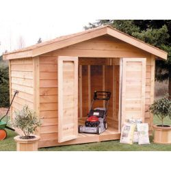 Select Cedar Shed 8 Ft X 10 Ft Cedar Select Bevel Siding Shed Kit 1800 Home Depot Cedar Shed Shed Kits Shed