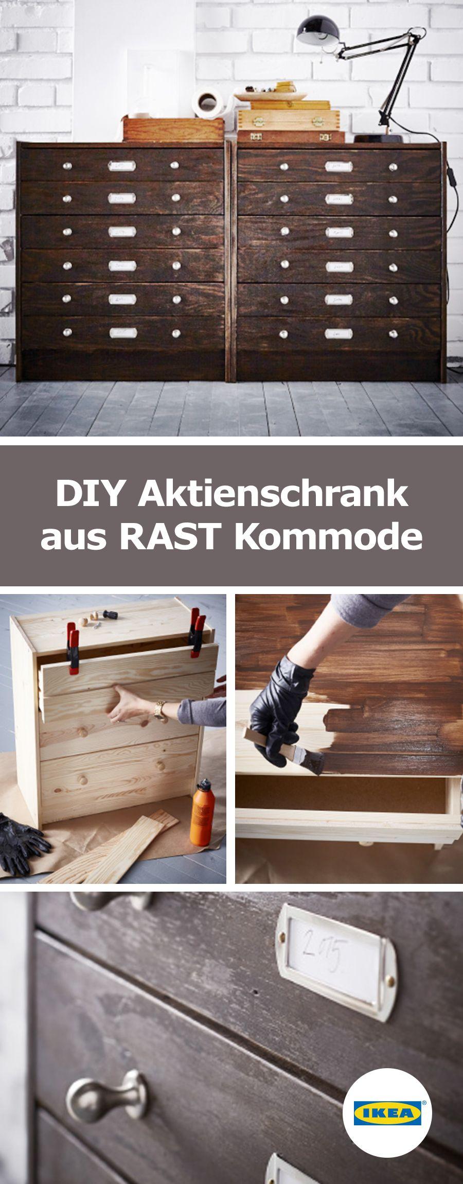 ikea deutschland diy aktienschrank aus rast kommode. Black Bedroom Furniture Sets. Home Design Ideas
