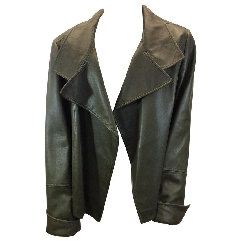 159ce3836be0 Lafayette 148 Olive Green Leather Jacket | Products in 2019 | Green ...