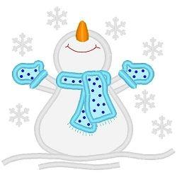 Oh Snow Applique 3 Sizes Winter