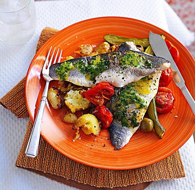 Sea bass is an indulgent and healthy supper. Olives and tomatoes make this dish a summer c...
