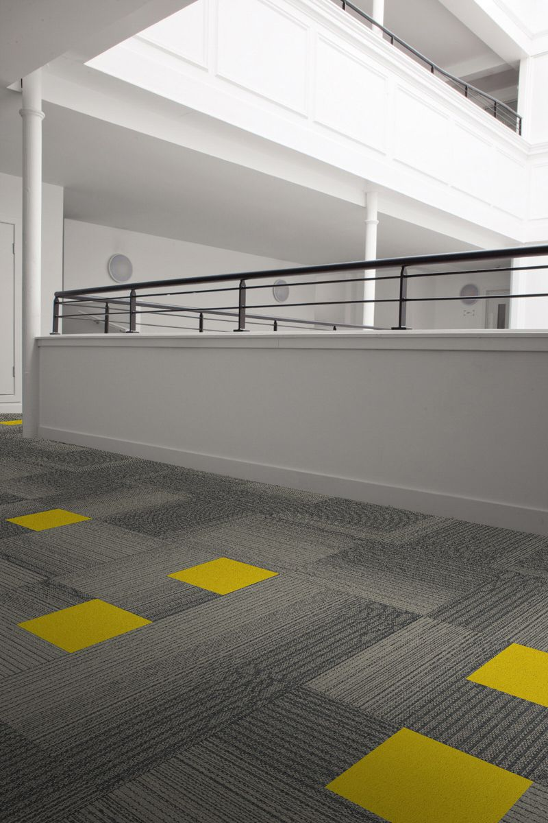 Zesty Mono In Action With Interface Carpet Tiles  (Histonium Palette2000_Cupello Canary)