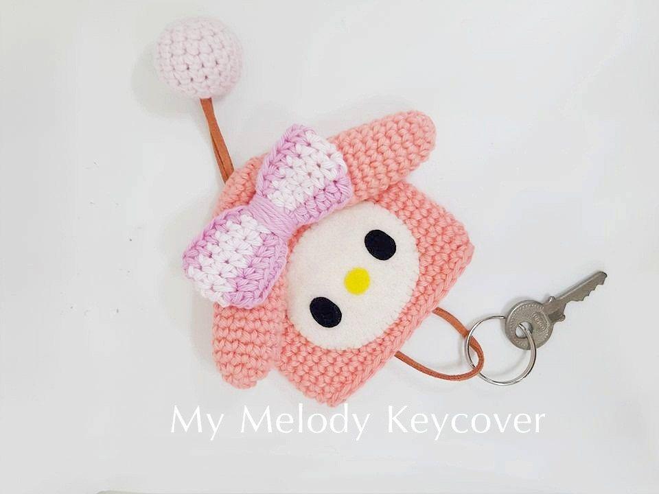 Mymelody key cover | sewing | Pinterest | Llaveros, Tejido y Fieltro