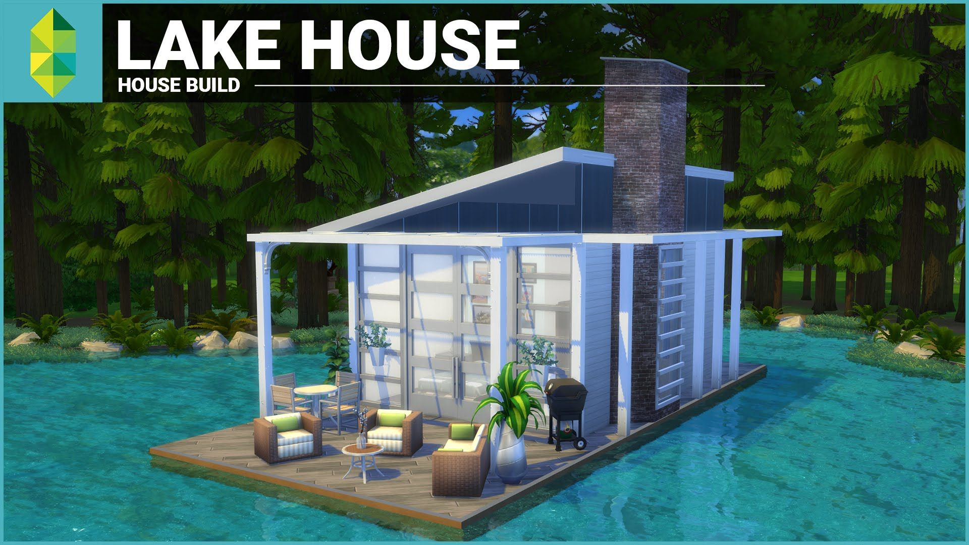 the sims 4 house building lake house tiny 4x6 grid modern