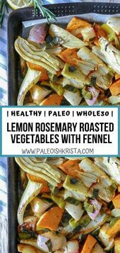 Photo of This colorful, healthy sheet pan of roasted vegetables features fennel, turnips,…