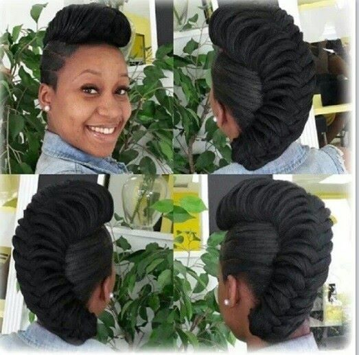 Fab Remix French Roll Mix With Fishtail Weave Hairstyles