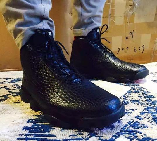 size 40 8c176 dd1de Air Jordan horizons in black crocodile