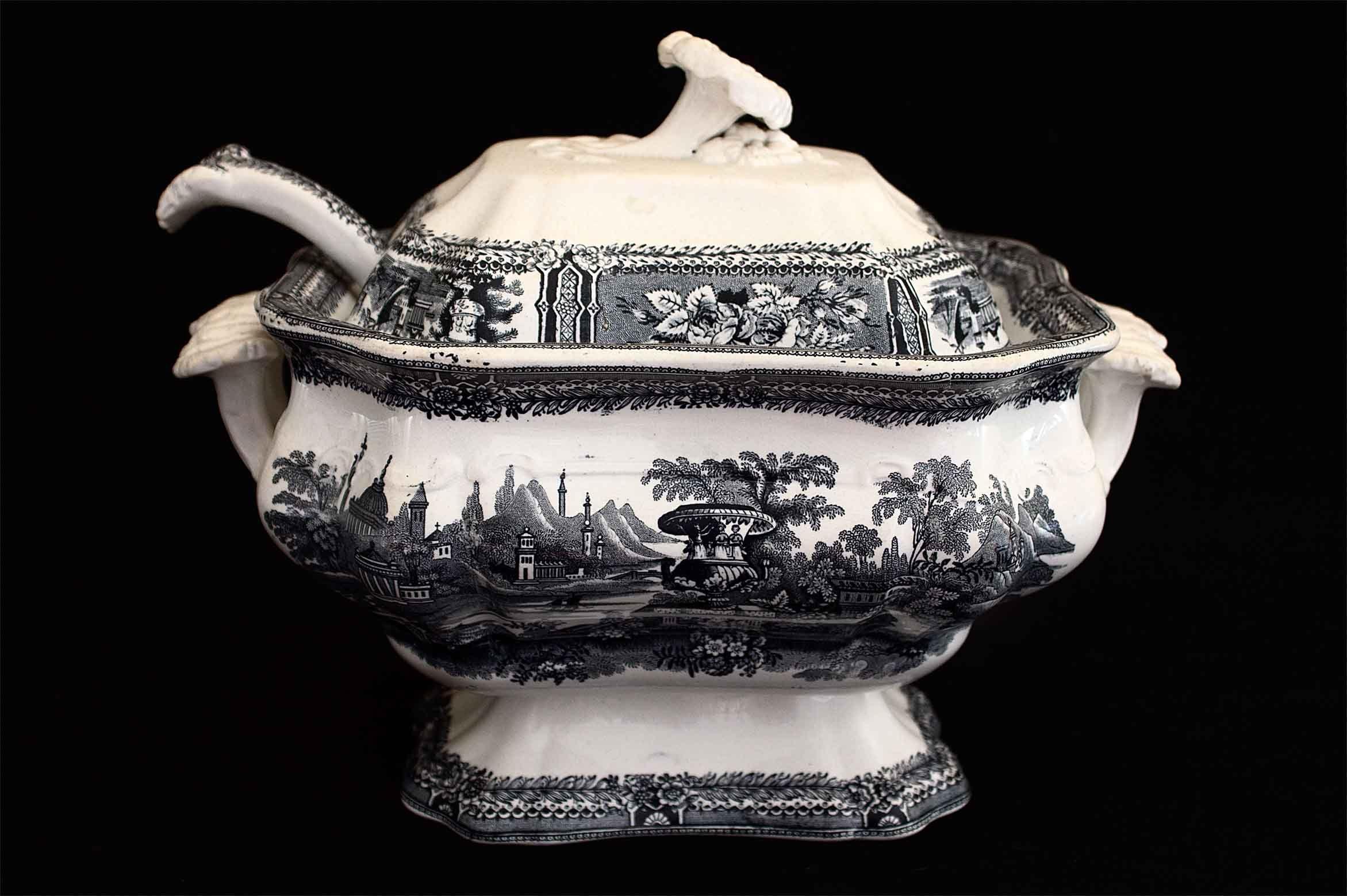 Sopera sargadelos 1845 1862 sargadelos loza antigua - Ceramica de sargadelos ...