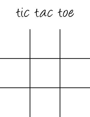 Tic Tac Toe Board Printable Math Pinterest Tic tac toe board