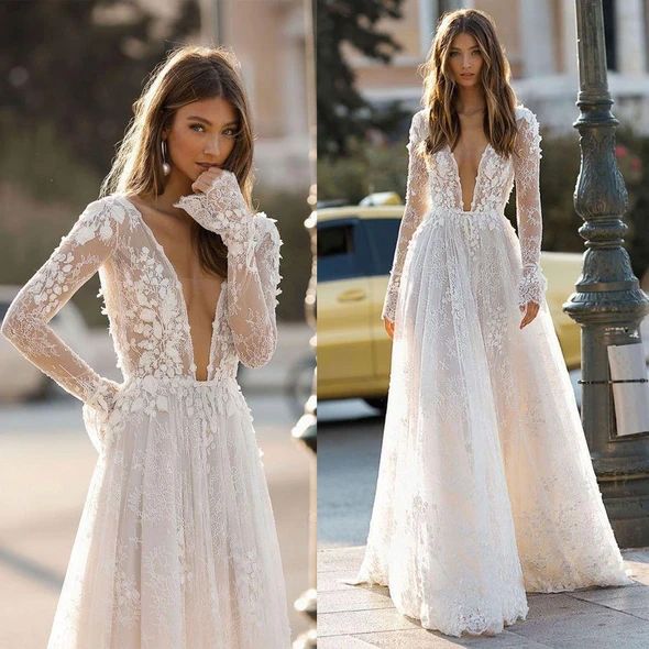 Photo of The Diamond Wedding Gown Going Out Clothes Long Sleeve Prom Dresses White Tutu Dress Womens