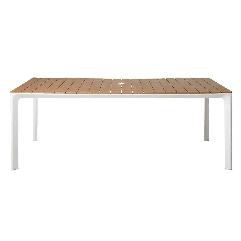 Gartentisch Aus Weissem Aluminium Fur 6 8 Personen L200