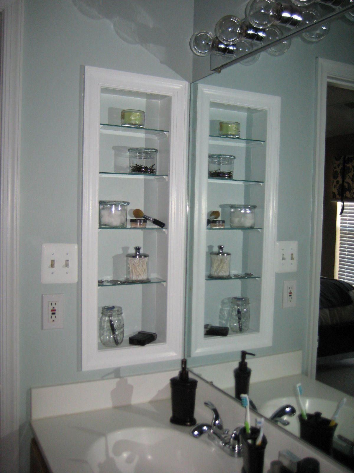 Here S A Quick Step By Step How To To Follow Up My Recently Transformed Medicine Cabinet Post This Master Bathroom Sinks Bathroom Makeover Bathrooms Remodel