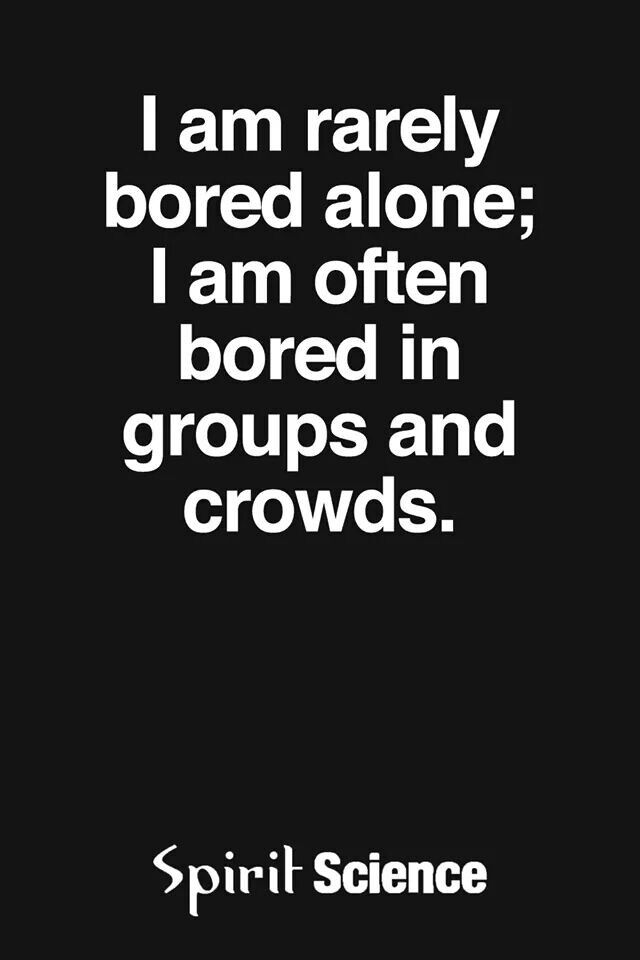 About boring alone ...