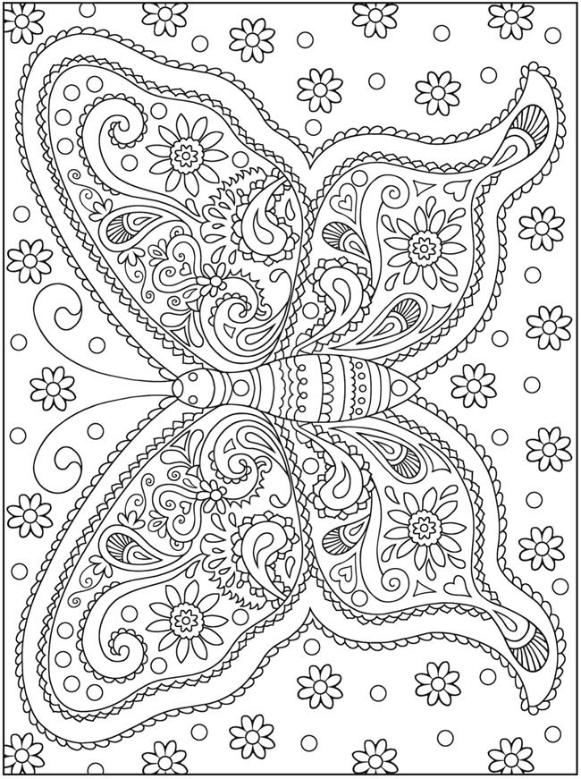 Welcome to Dover Publications | MARIPOSAS | Pinterest | Ausmalbilder ...