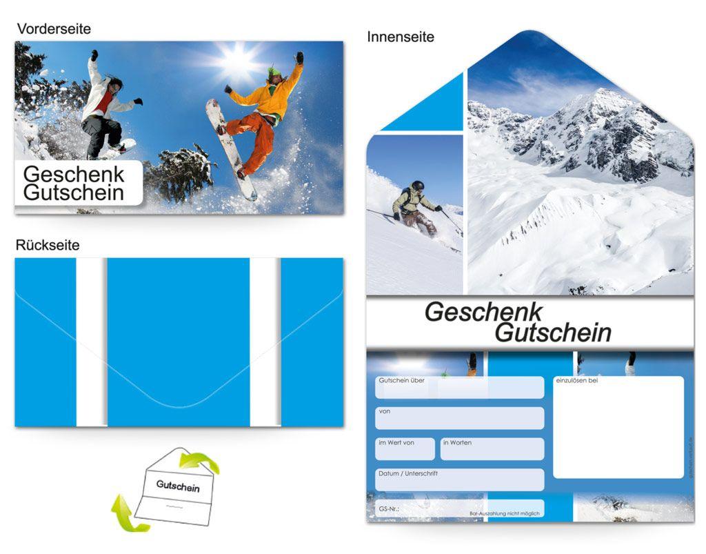Motiv Alpen und Ski - Gutscheinvorlagen | Gutscheine ...