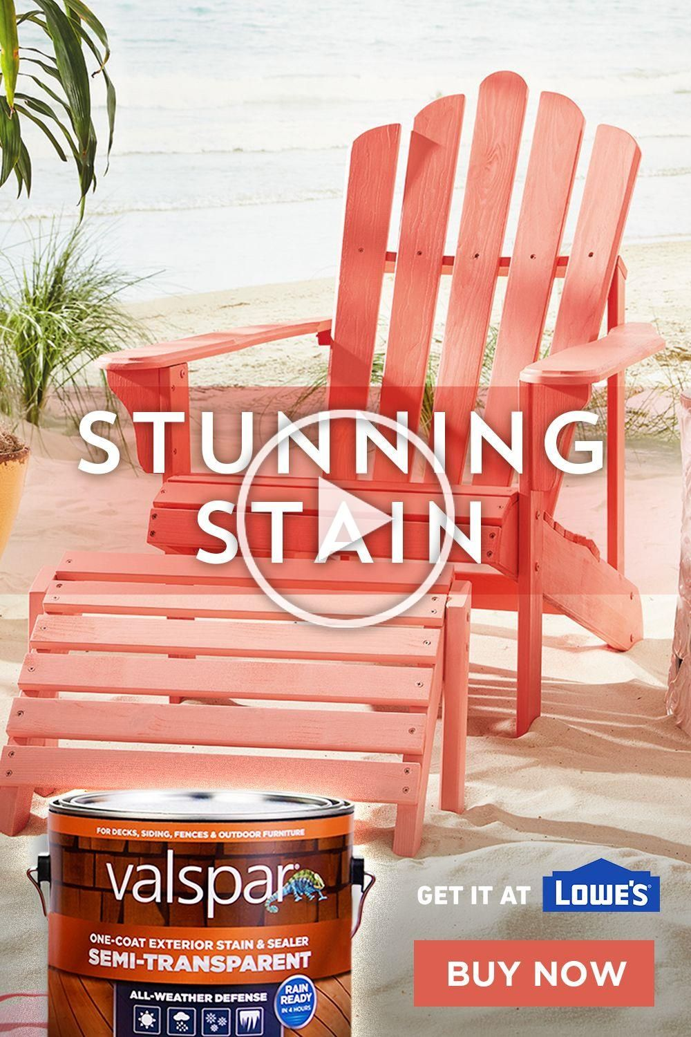 Applying color to outdoor furniture stain is easy with
