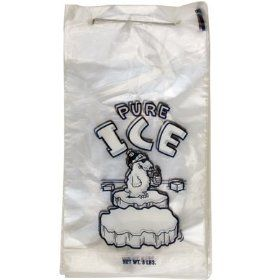 Perfect For Automatic And Semi Automatic Ice Bagging Machines These Wicketed 8lb Ice Bags Are Pre Printed Pure Ice And Mount Pure Products Ice Bag Clear Ice