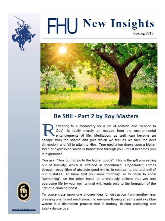 The Foundation of Human Understanding's Newsletter