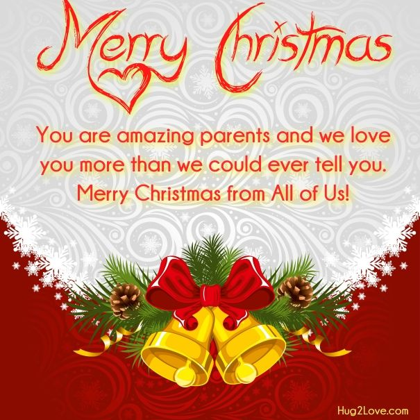 Merry Christmas Quotes Wishes For Mom And Dad With Images.