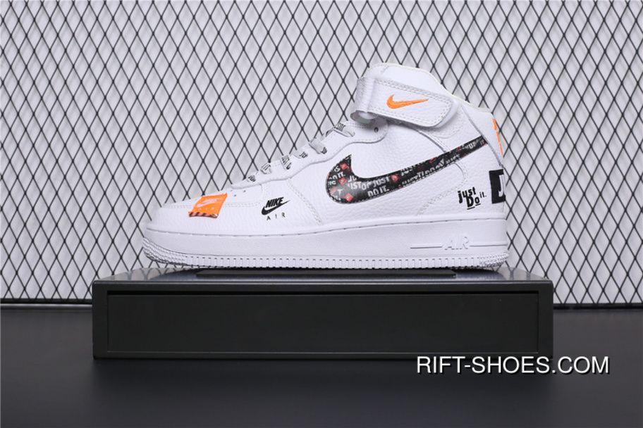 in stock 2a43d d4259 BQ6474-100 Nike Air Force 1 AF1 Just Do It Collaboration Mid Top Casual  Sneaker Super Deals