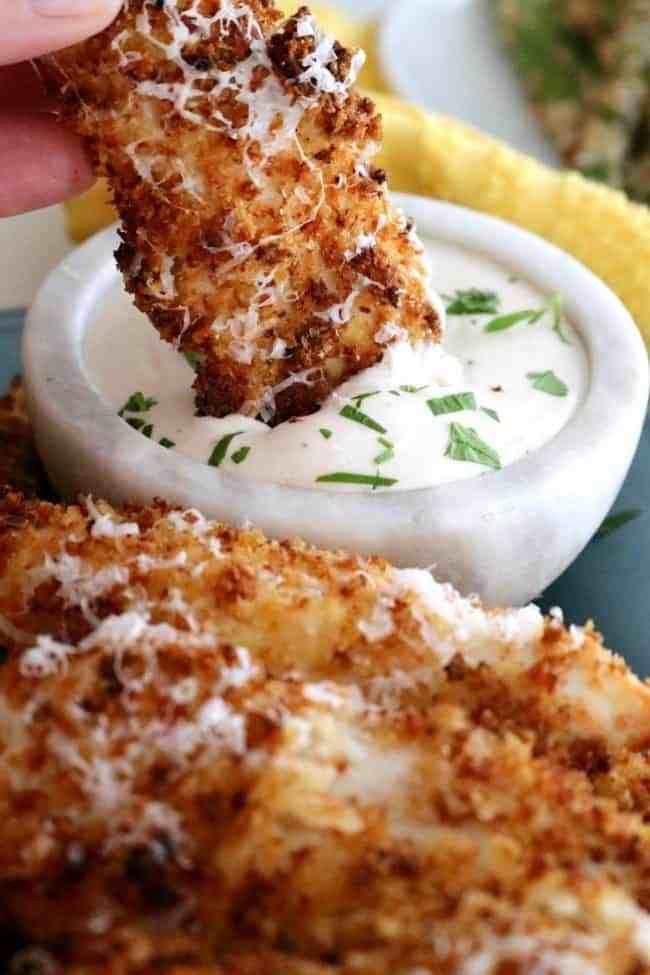 Air Fryer Garlic Parmesan Chicken Tenders   Kitchen Dreaming