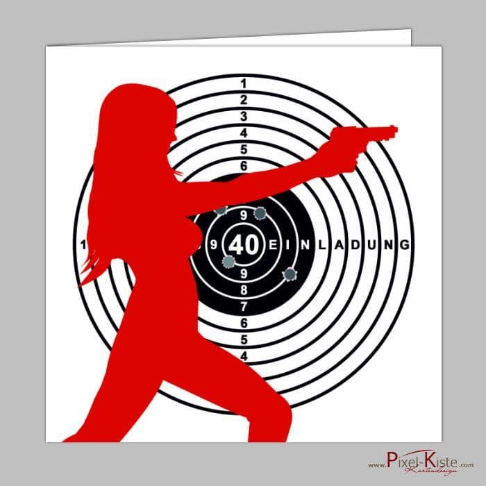 #Einladungskarten Für #Sportschützen Mit #Zielscheibe Individuell Drucken  Lassen #Geburtstag