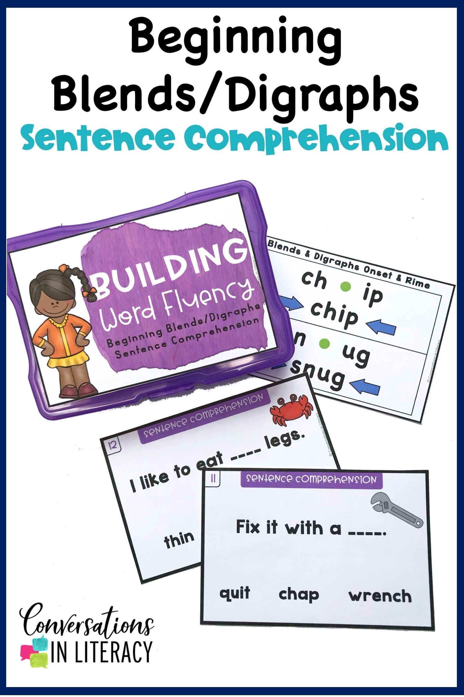 Blends And Digraphs Onset And Rime Building Word Fluency