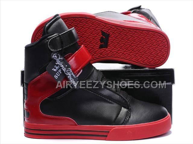 Zapatos negros con velcro SUPRA Society para mujer bup1Y4o