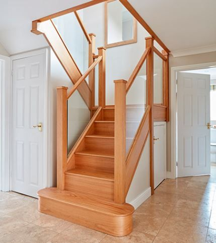 Best Glass Staircases Contemporary Staircases Neville 400 x 300