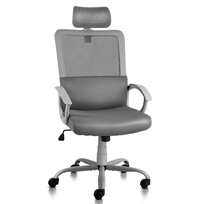 Amazon Com Ergonomic Office Chair Adjustable Headrest Mesh Office