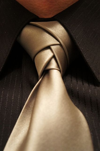 Eldredge Necktie Knot.  Click through to watch how to tie this.