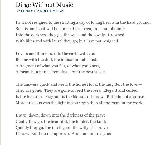 dirge without music explained