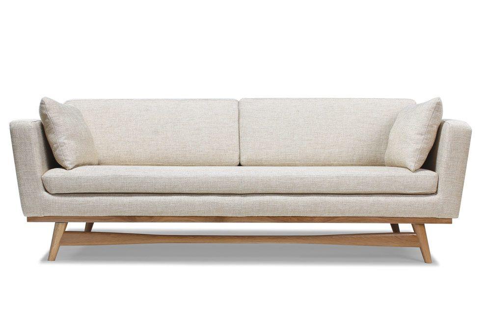 canap 3 places profond avec une structure et un pi tement. Black Bedroom Furniture Sets. Home Design Ideas