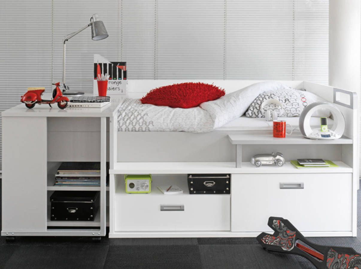 un lit mezzanine mi hauteur elle d co design. Black Bedroom Furniture Sets. Home Design Ideas