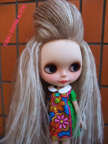 "Neroli's OOAK Reroot Custom Blythe Art Doll ""Gone with The Retro Girl"" by Ruirui"