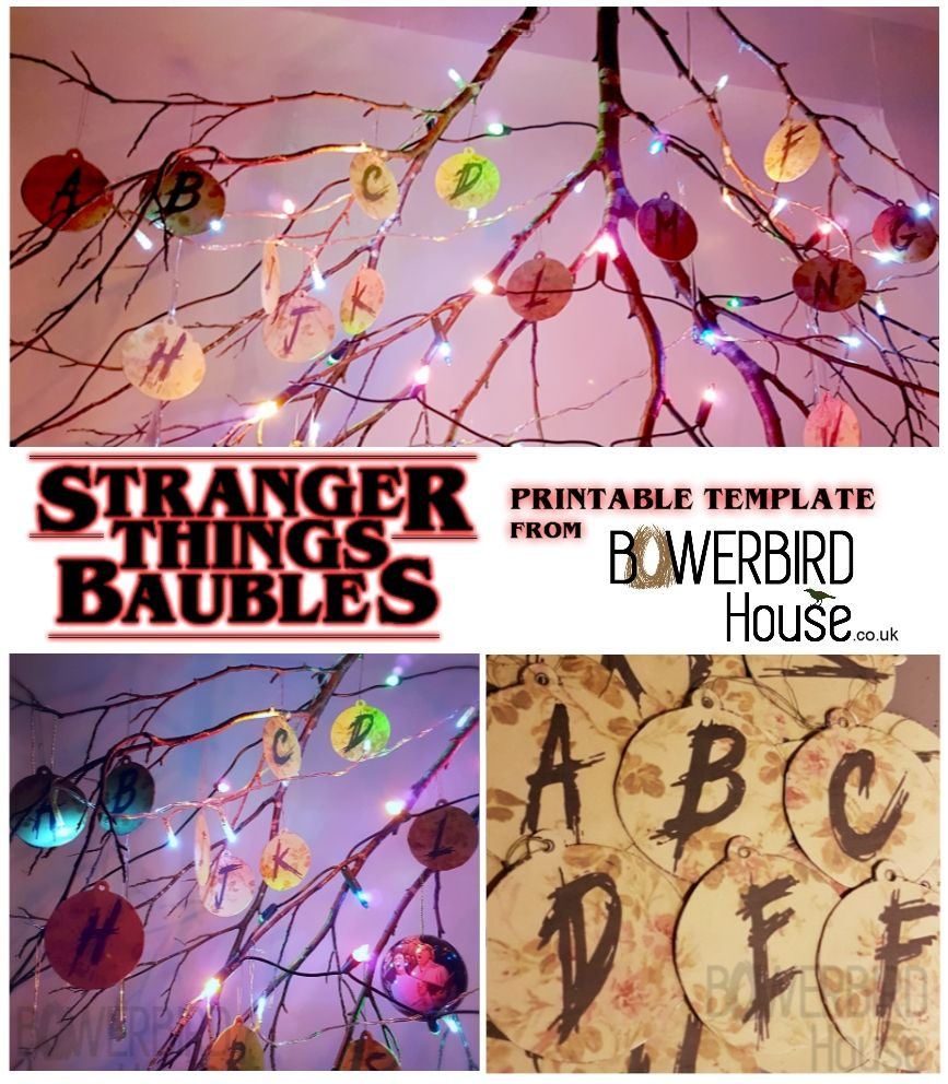 A Stranger Things Christmas.Stranger Things Christmas Tree Tutorial With Printable