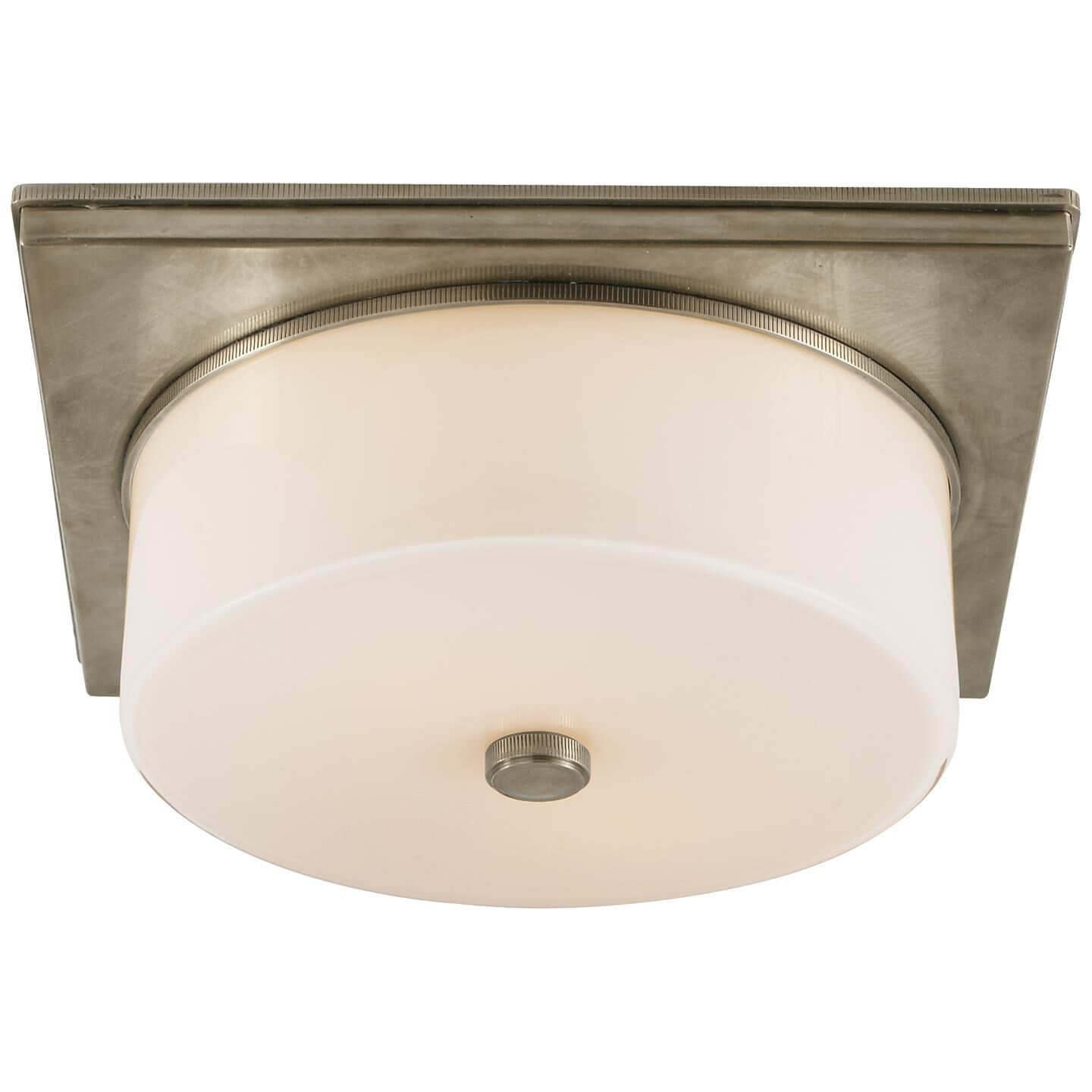 Thomas O'Brien Newhouse Block 12 Inch 2 Light Flush Mount by Visual Comfort and Co. Newhouse Block Flush Mount by Visual Comfort and Co. - TOB 4216AN-WG