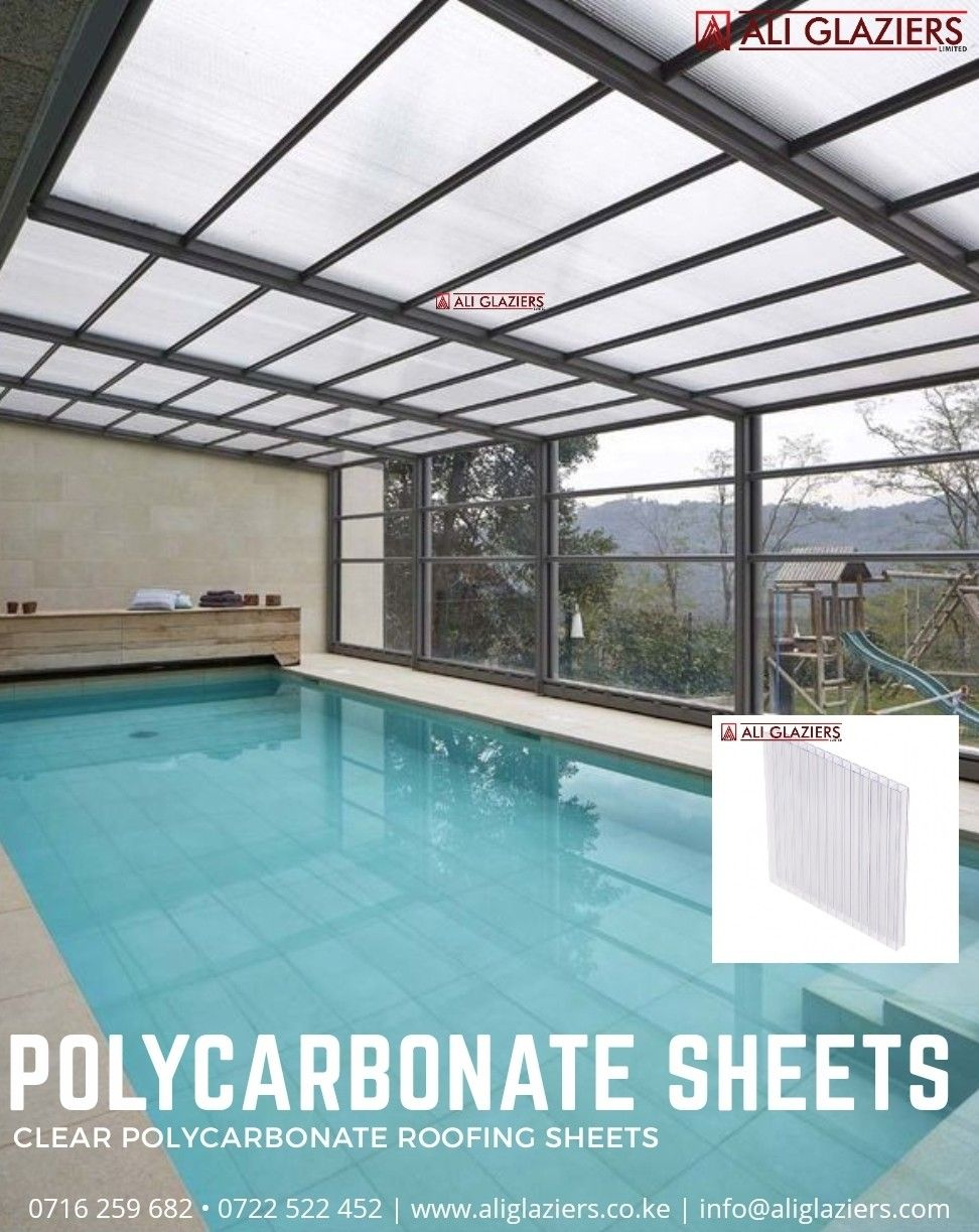 Clear Polycarbonate Sheets In Nairobi Garden Pool Design Indoor Pool Pool Houses