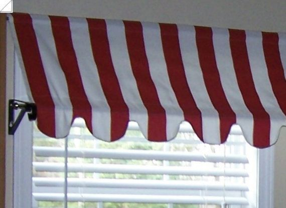 Country French Cafe Awning Window Valance in Red by HomeStyled ...