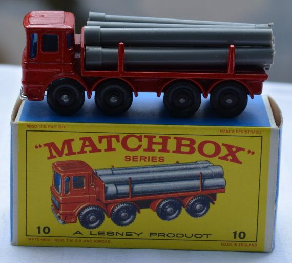 Lesney Matchbox No 10 Pipe Truck with Original Box